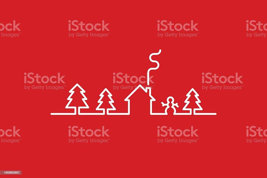 Christmas vector art illustration