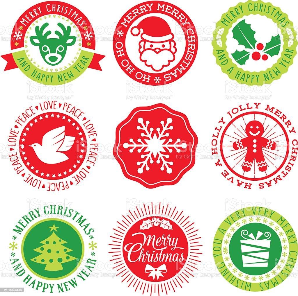 Christmas Vector Seals vector art illustration