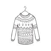 Christmas vector sweater