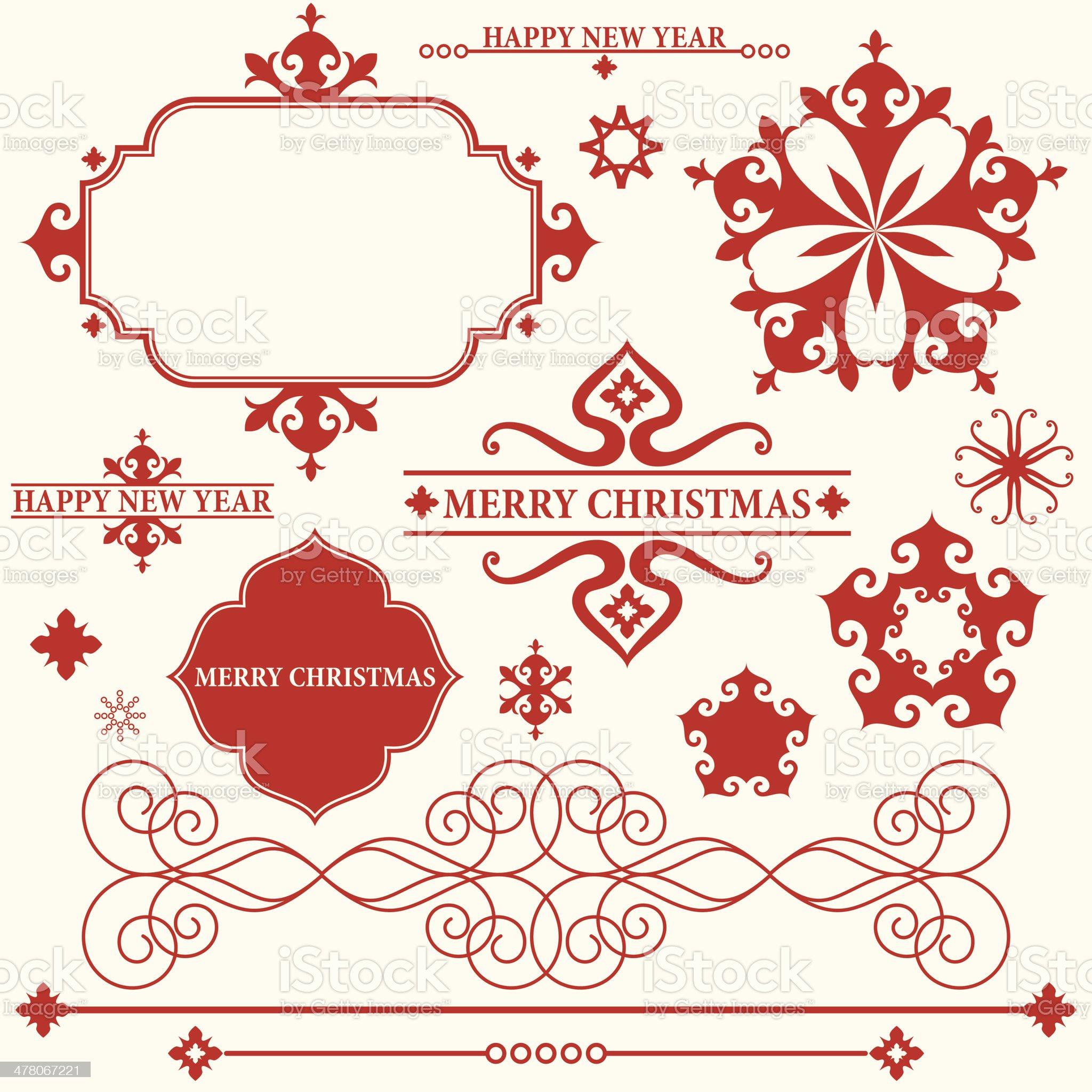 Christmas. Vintage royalty-free stock vector art