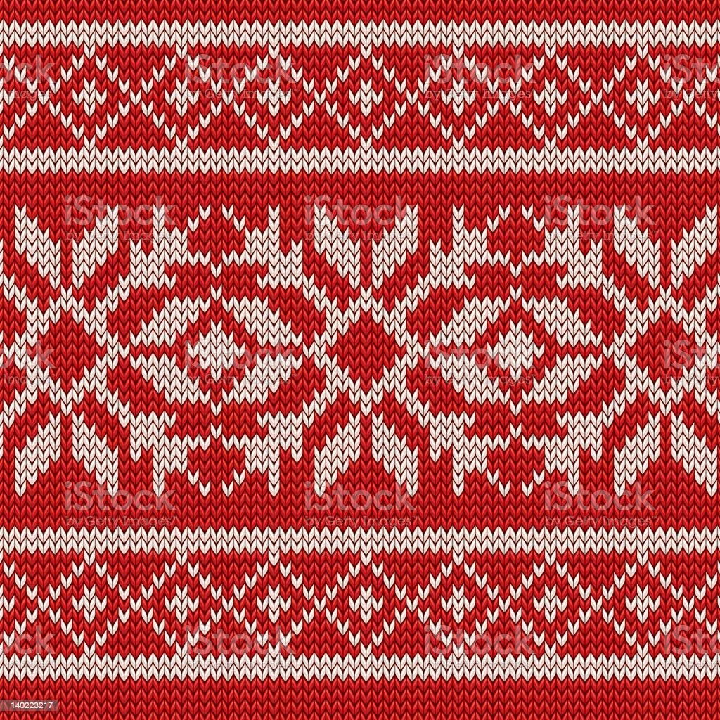 Christmas white and red knitting texture background royalty-free stock vector art