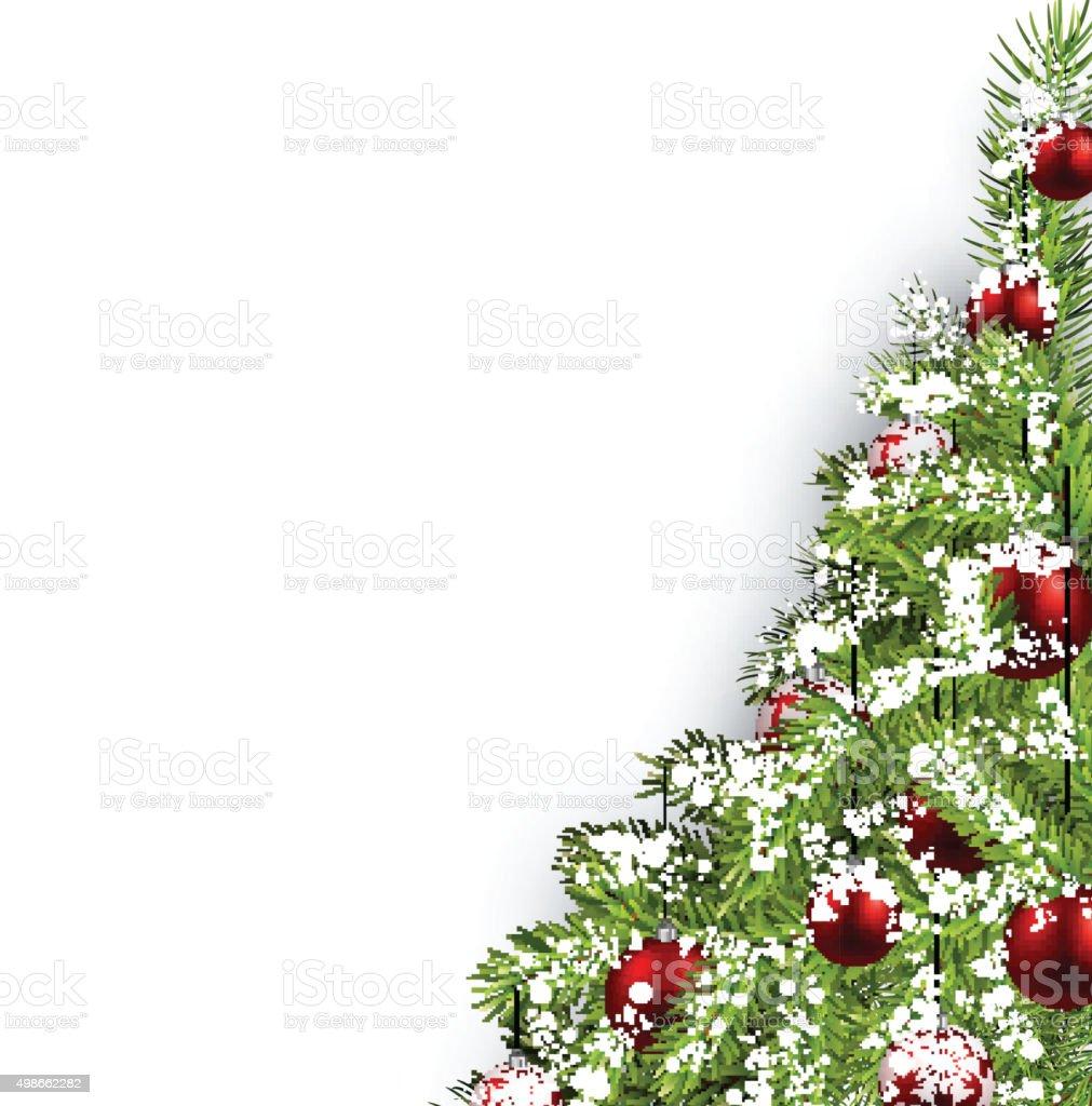 Christmas white background vector art illustration
