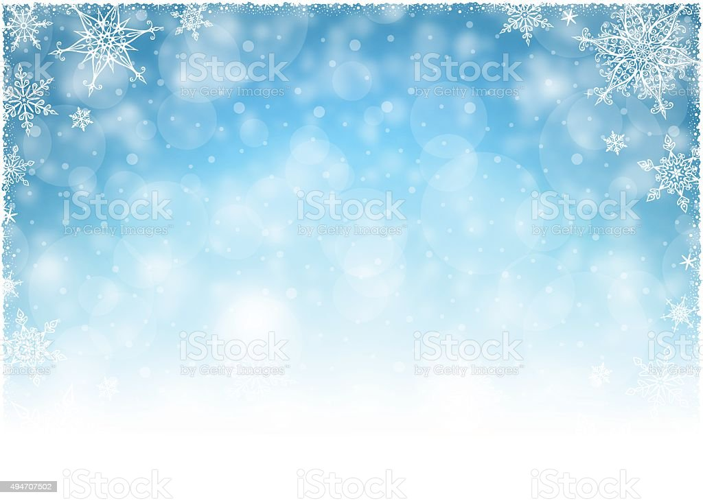 Christmas Winter Frame - Illustration vector art illustration