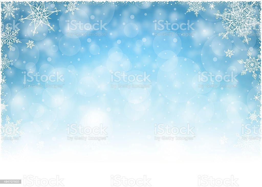 Christmas Winter Frame - Illustration vector art illustration