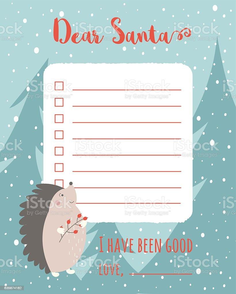 Christmas wish list vector art illustration