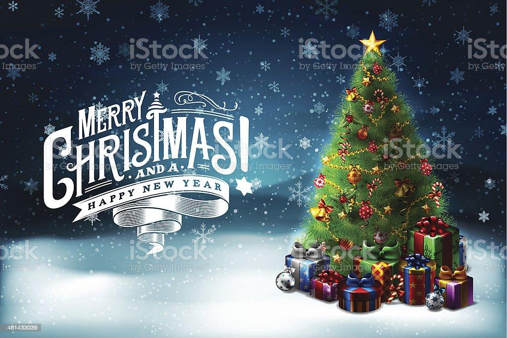Christmas Wishes 6 vector art illustration