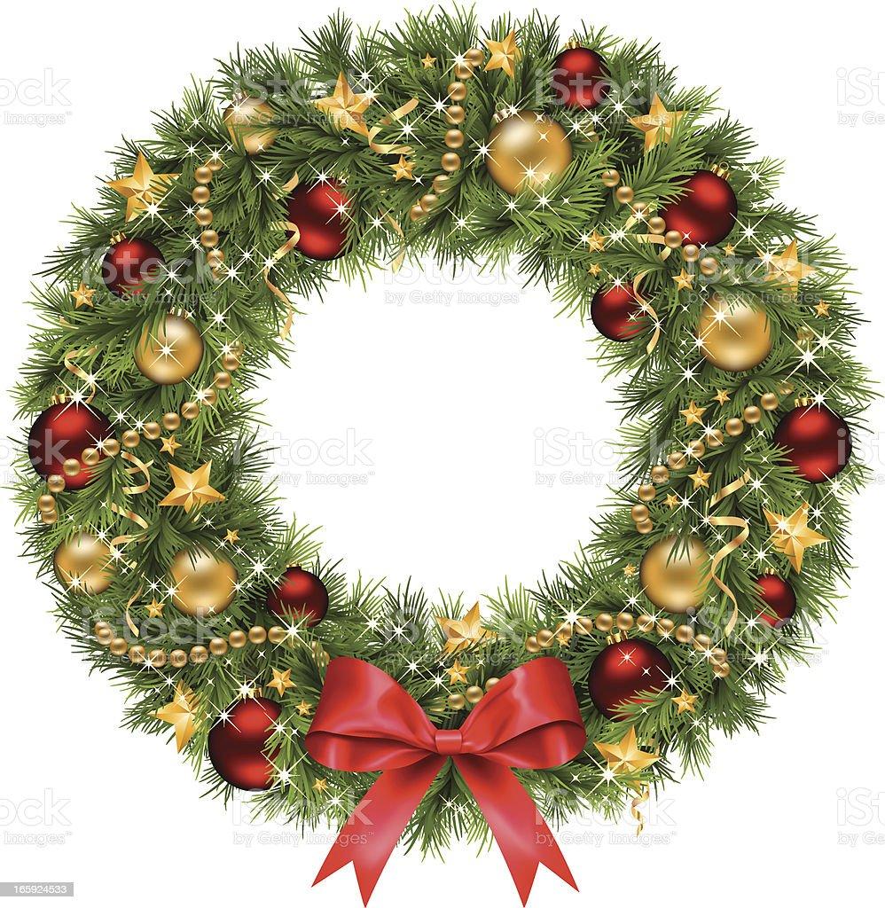 Christmas Wreath (Vector) vector art illustration