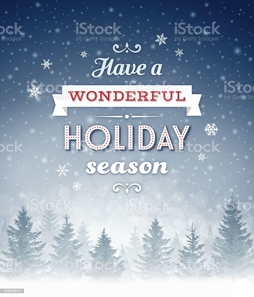 Christmas-Holiday Background vector art illustration
