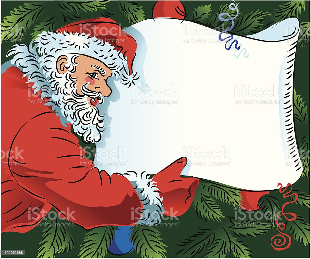 Christmas's or New Year's letter royalty-free stock vector art