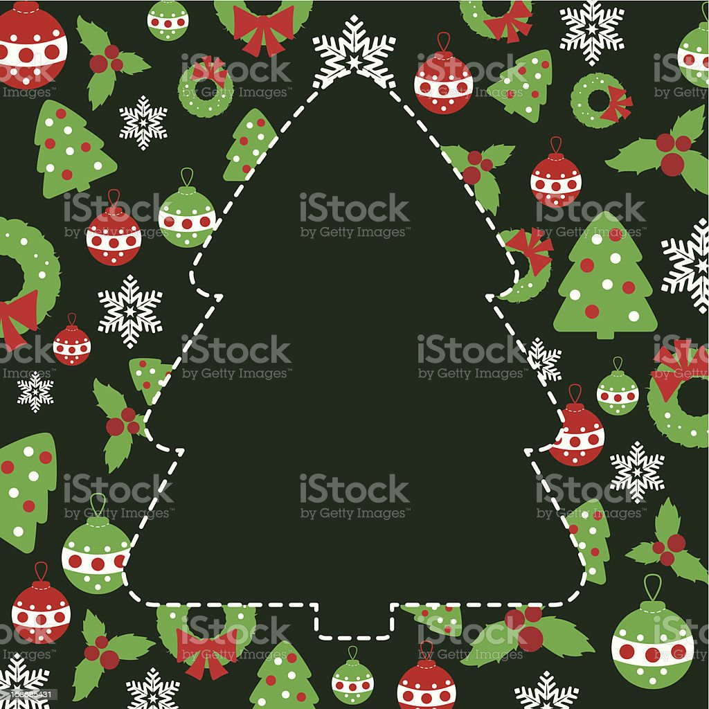 ChristmasTree Card royalty-free stock vector art