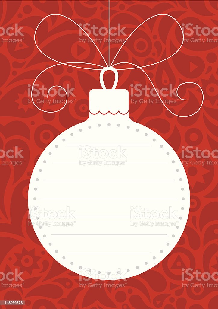 Christmas-tree decoration royalty-free stock vector art