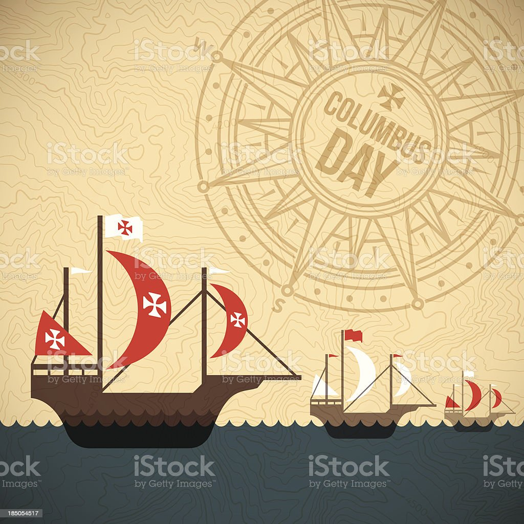 Christopher Columbus Day vector art illustration
