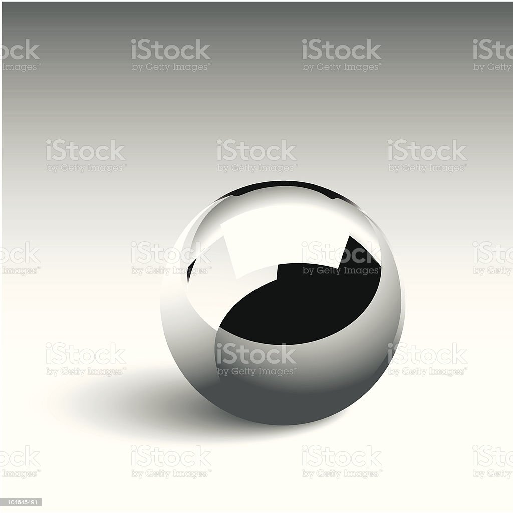 Chrome Ball royalty-free stock vector art