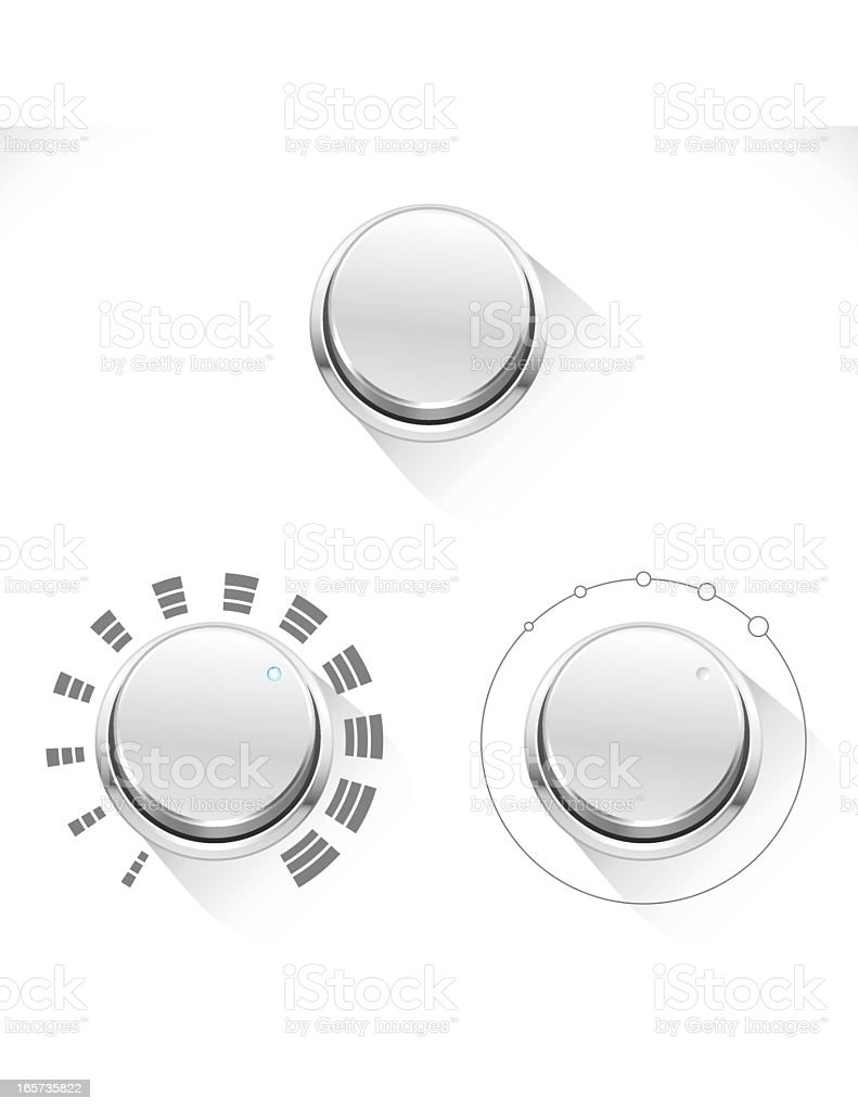 Chrome Control Knob royalty-free stock vector art