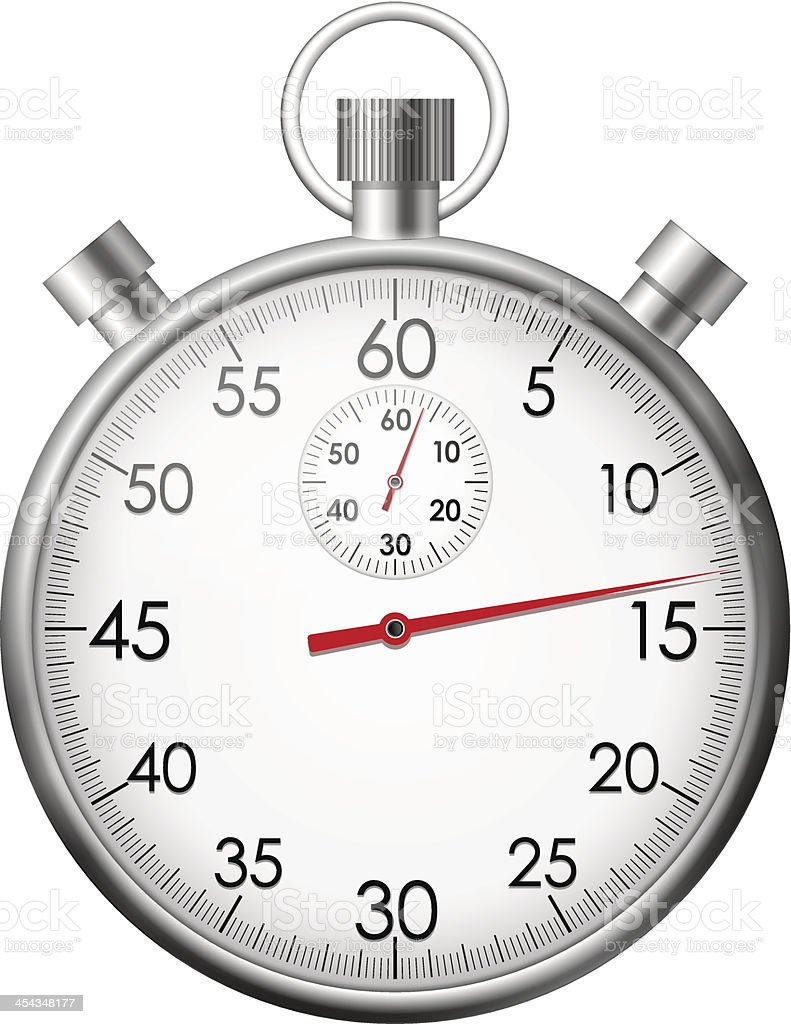Chrome stop watch royalty-free stock vector art