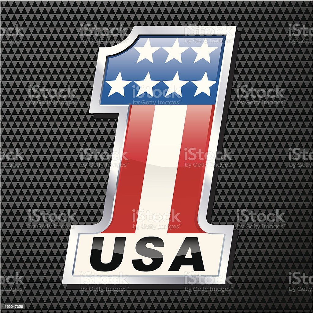 Chrome USA One royalty-free stock vector art