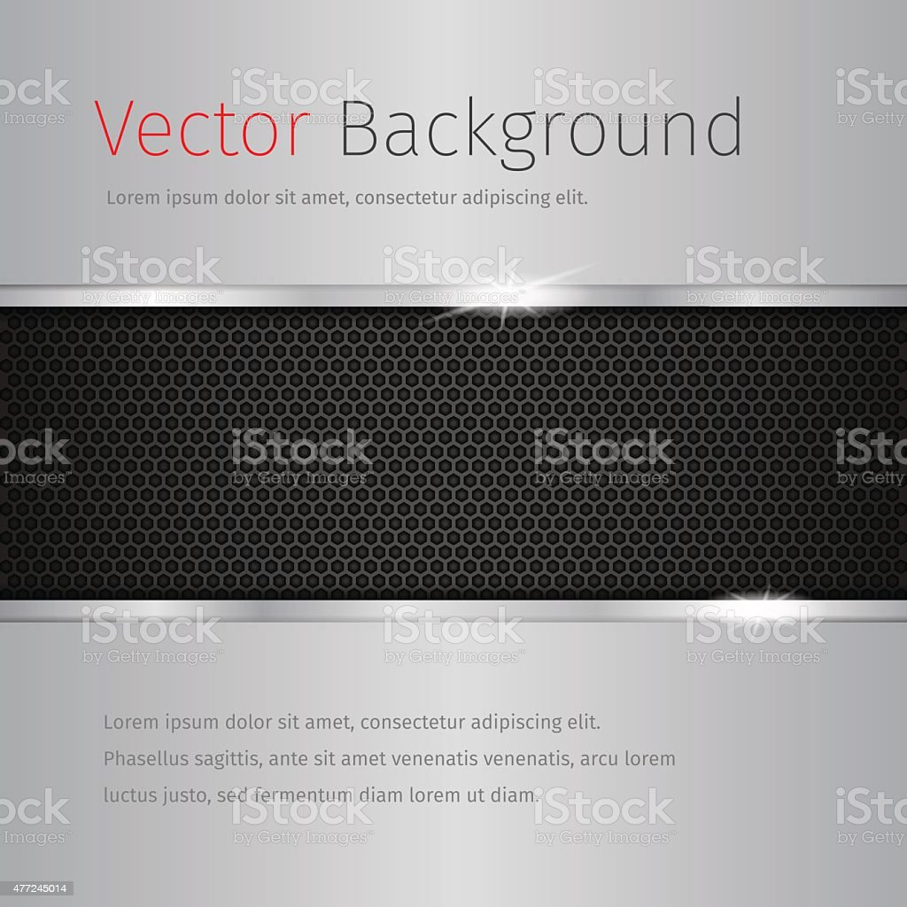 chrome vector background with dark pattern vector art illustration