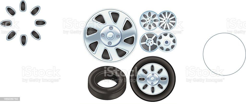 Chrome Wheels royalty-free stock vector art