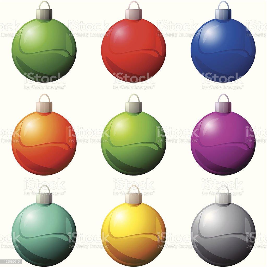 chrome xmas balls 2007 royalty-free stock vector art