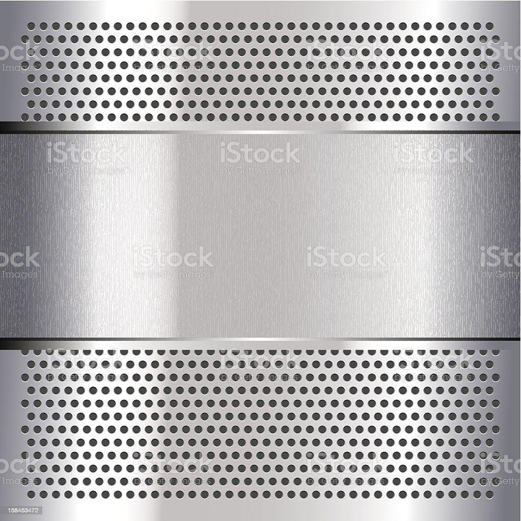 Chromium sheet. steel metallic royalty-free stock vector art