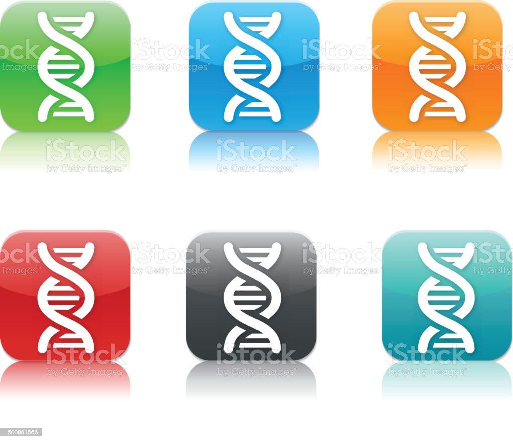 chromosome app icon set vector art illustration