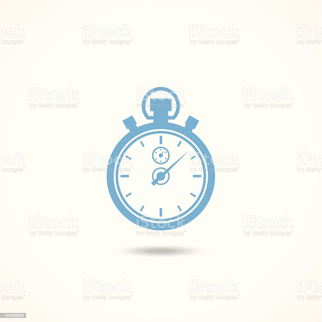Chronometer icon vector art illustration