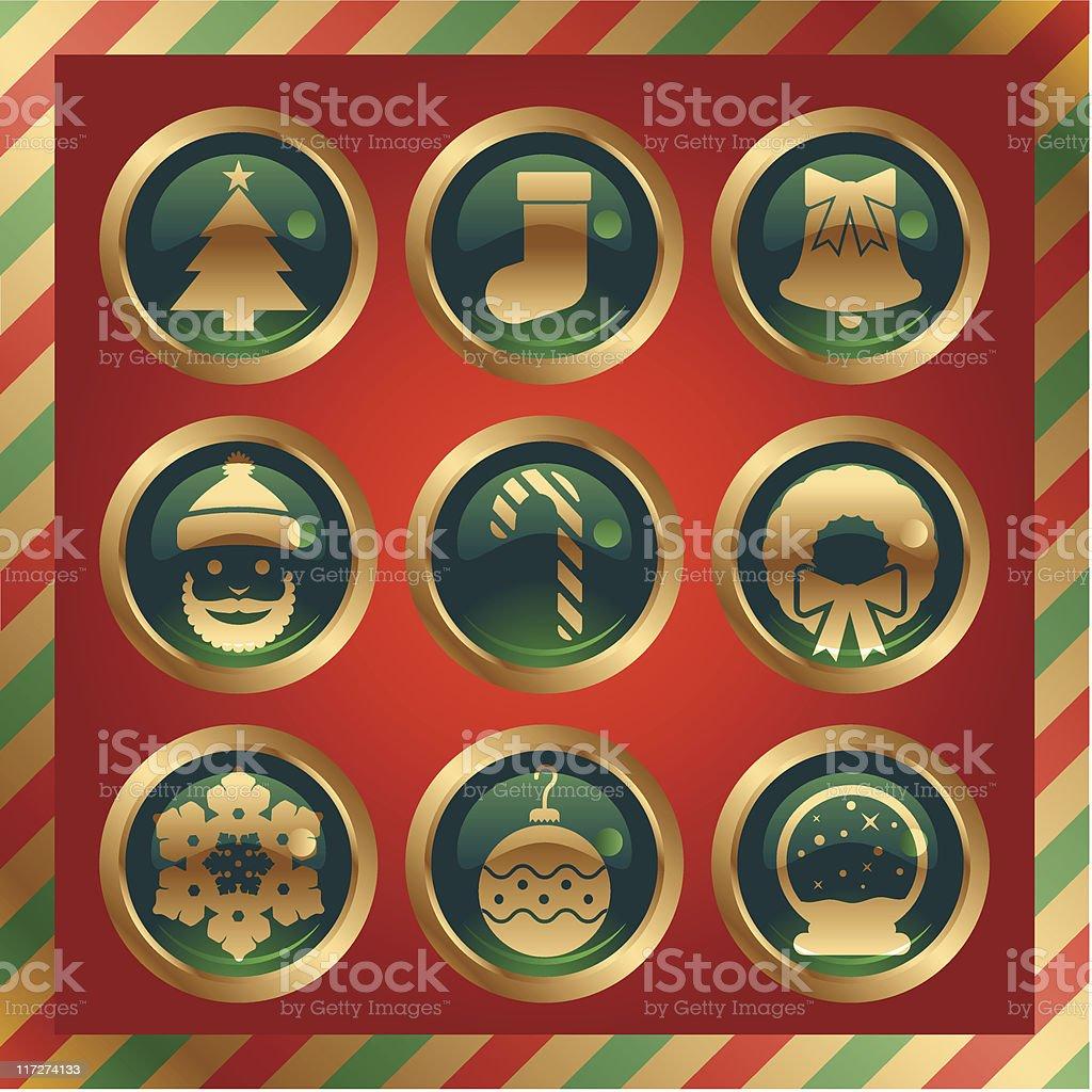 Chrstmas Buttons royalty-free stock vector art