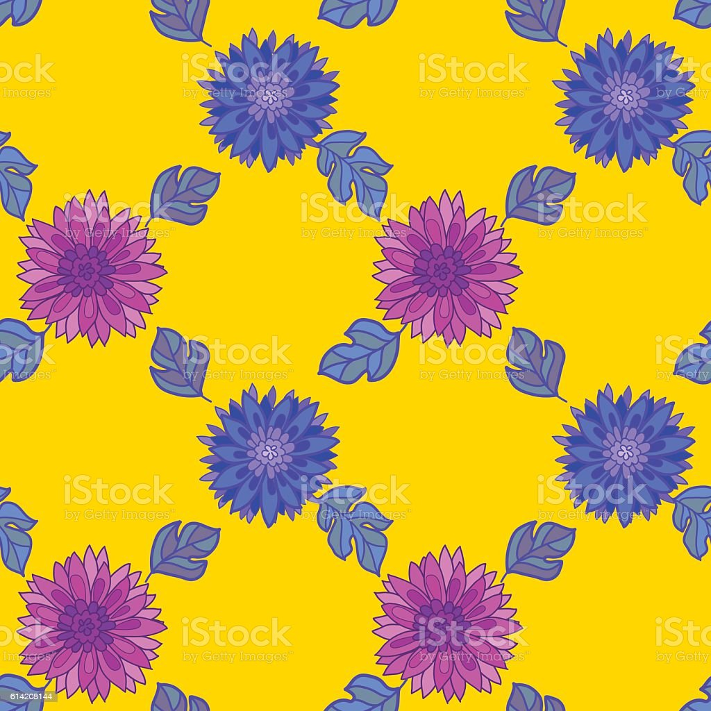 chrysanthemum flower design element. aster floral decorative vec vector art illustration