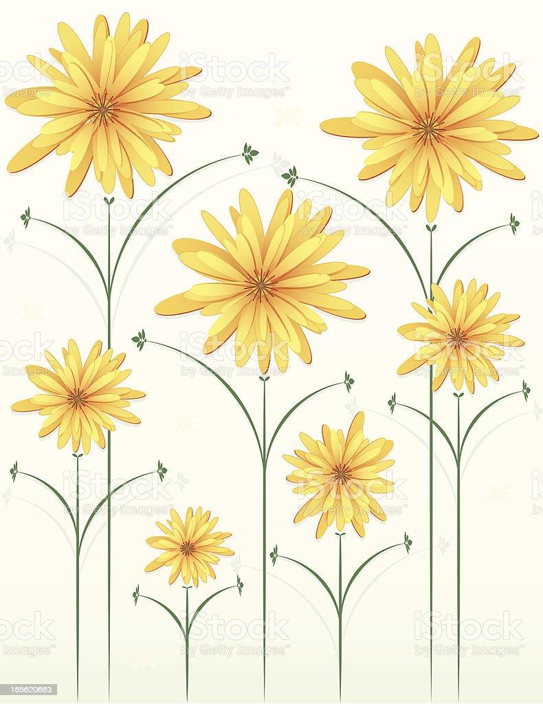 Chrysanthemums Blumenmuster und wiederholbare Aufzeichnungen des Trainings liefern Blume Grenze Lizenzfreies vektor illustration