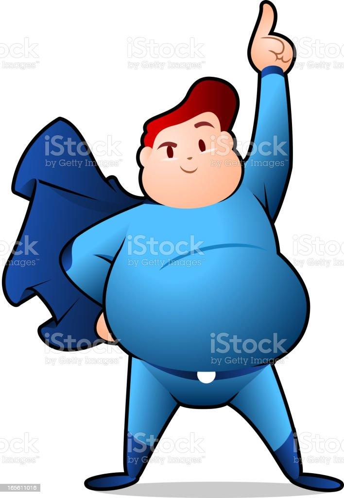 Chubby Superhero posing royalty-free stock vector art