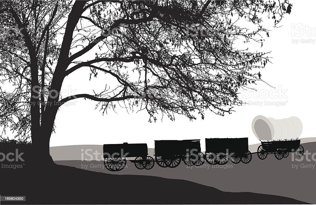 Chuckwagon vector art illustration