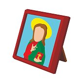 Church icon depicting St cartoon icon