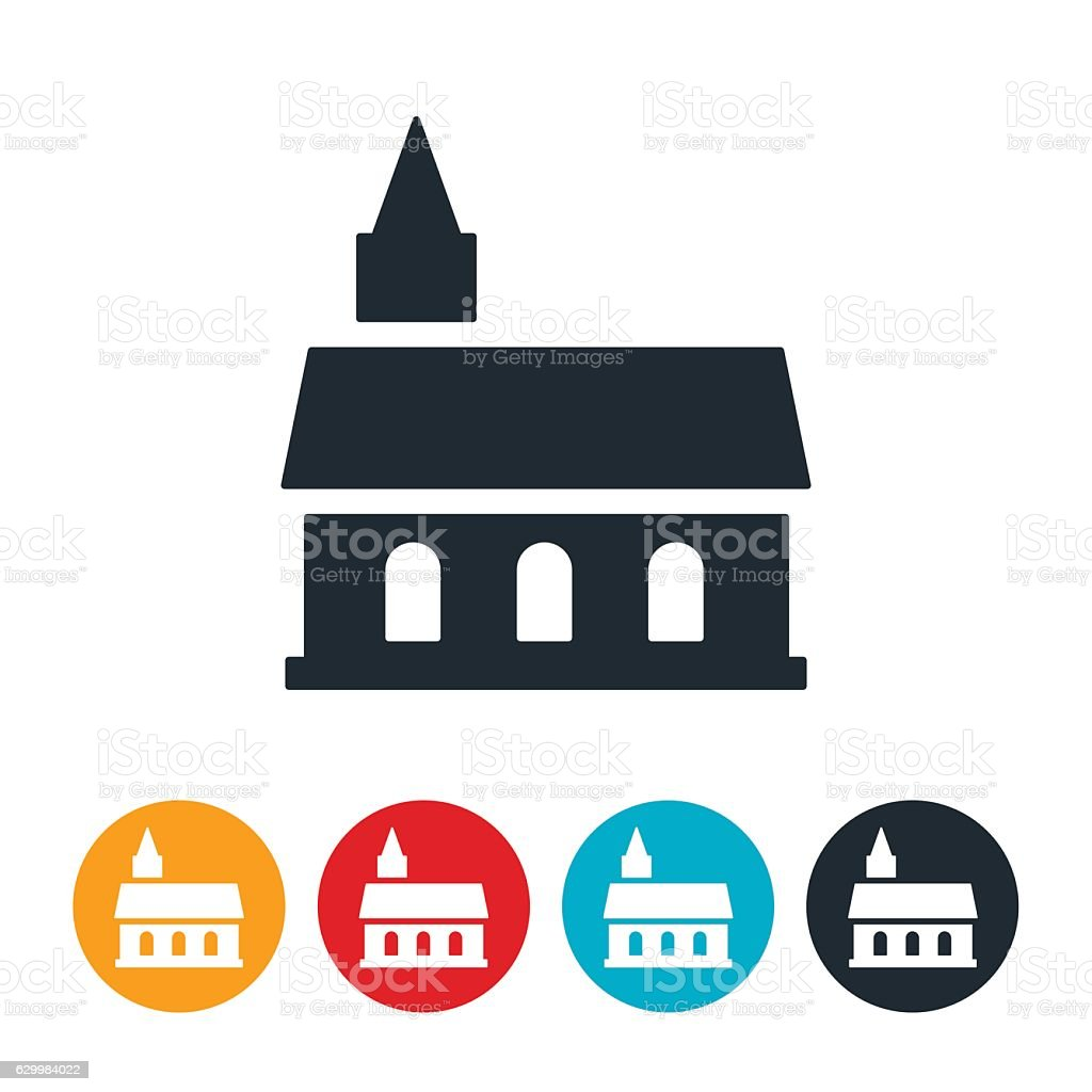 Church Icon vector art illustration