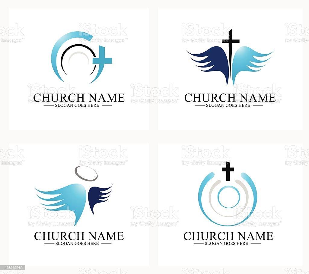 Church Logo vector art illustration