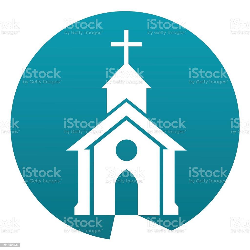 Church sign vector art illustration