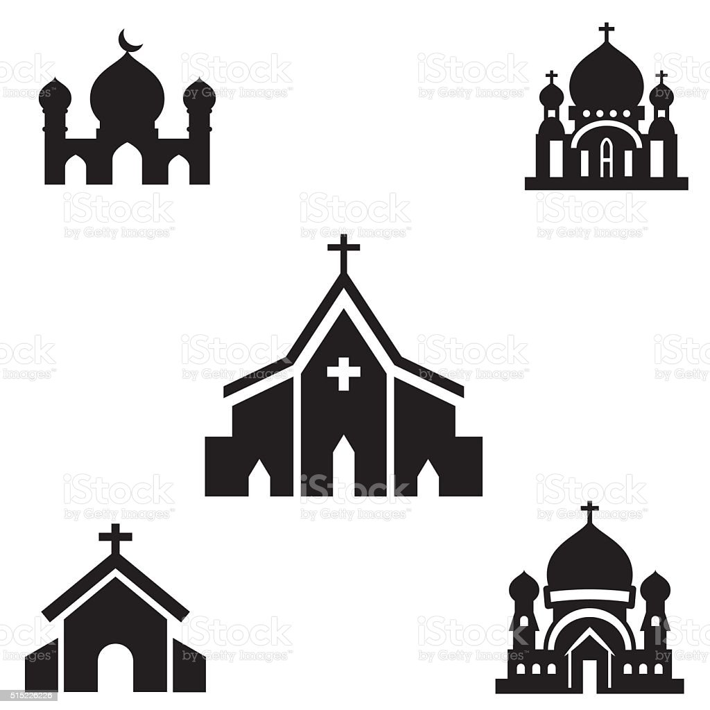 church silhouette isolated vector vector art illustration