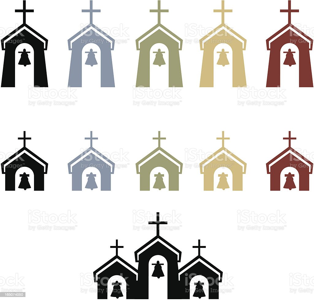Church Steeples royalty-free stock vector art