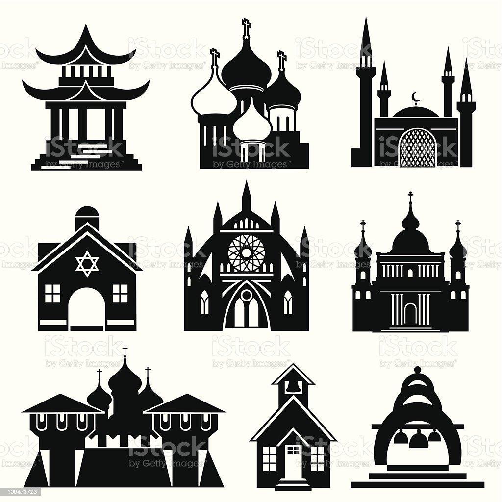 church royalty-free stock vector art