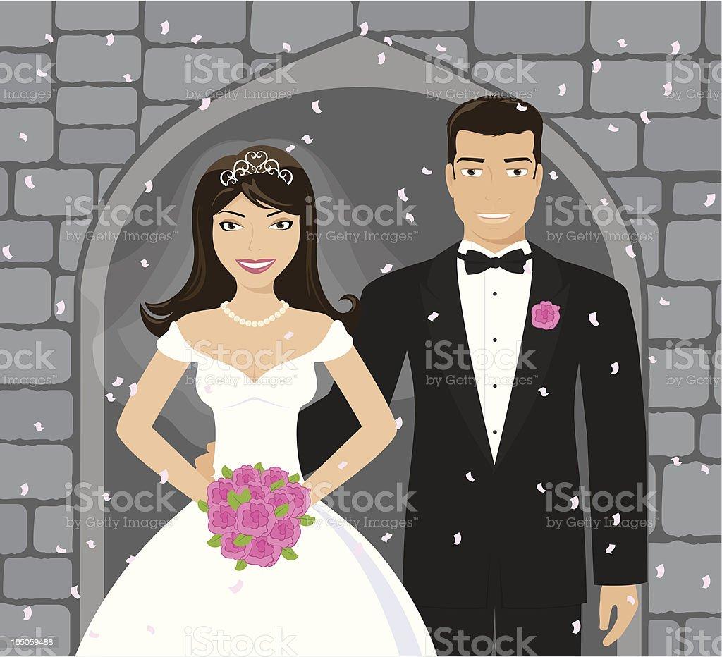Church Wedding - incl. jpeg vector art illustration