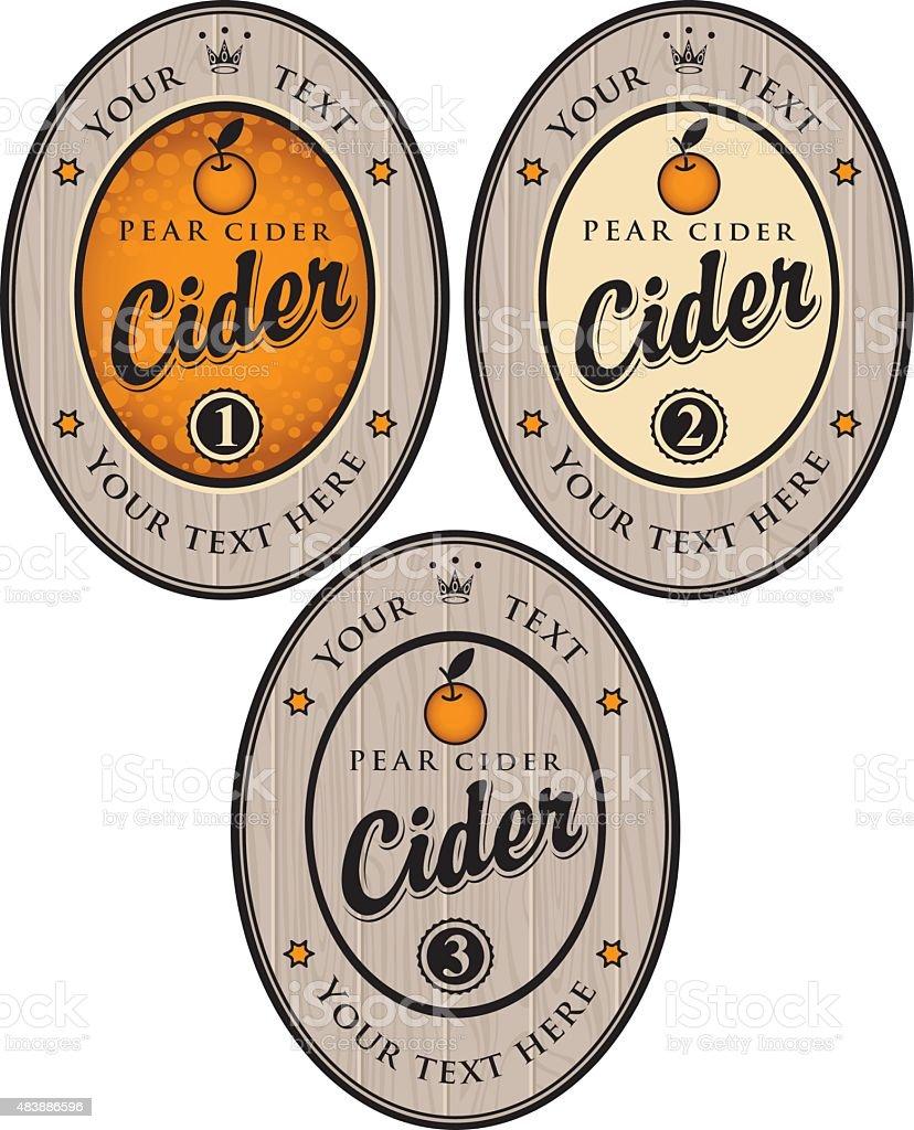 Cider label vector art illustration