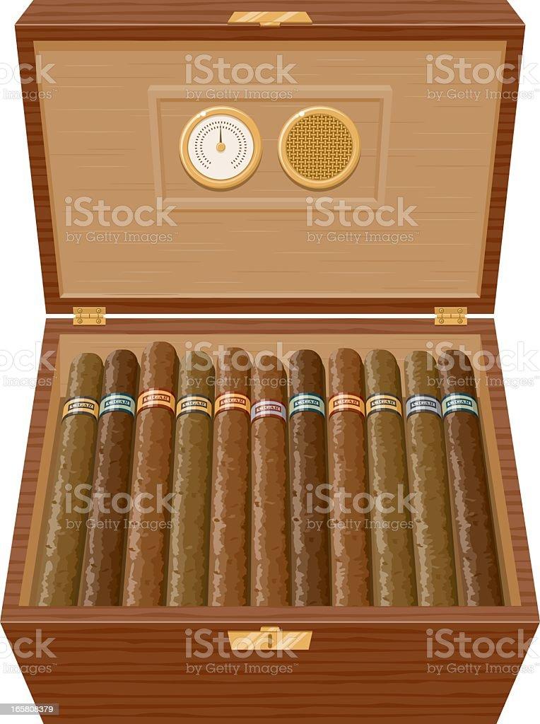 Cigar Humidor vector art illustration