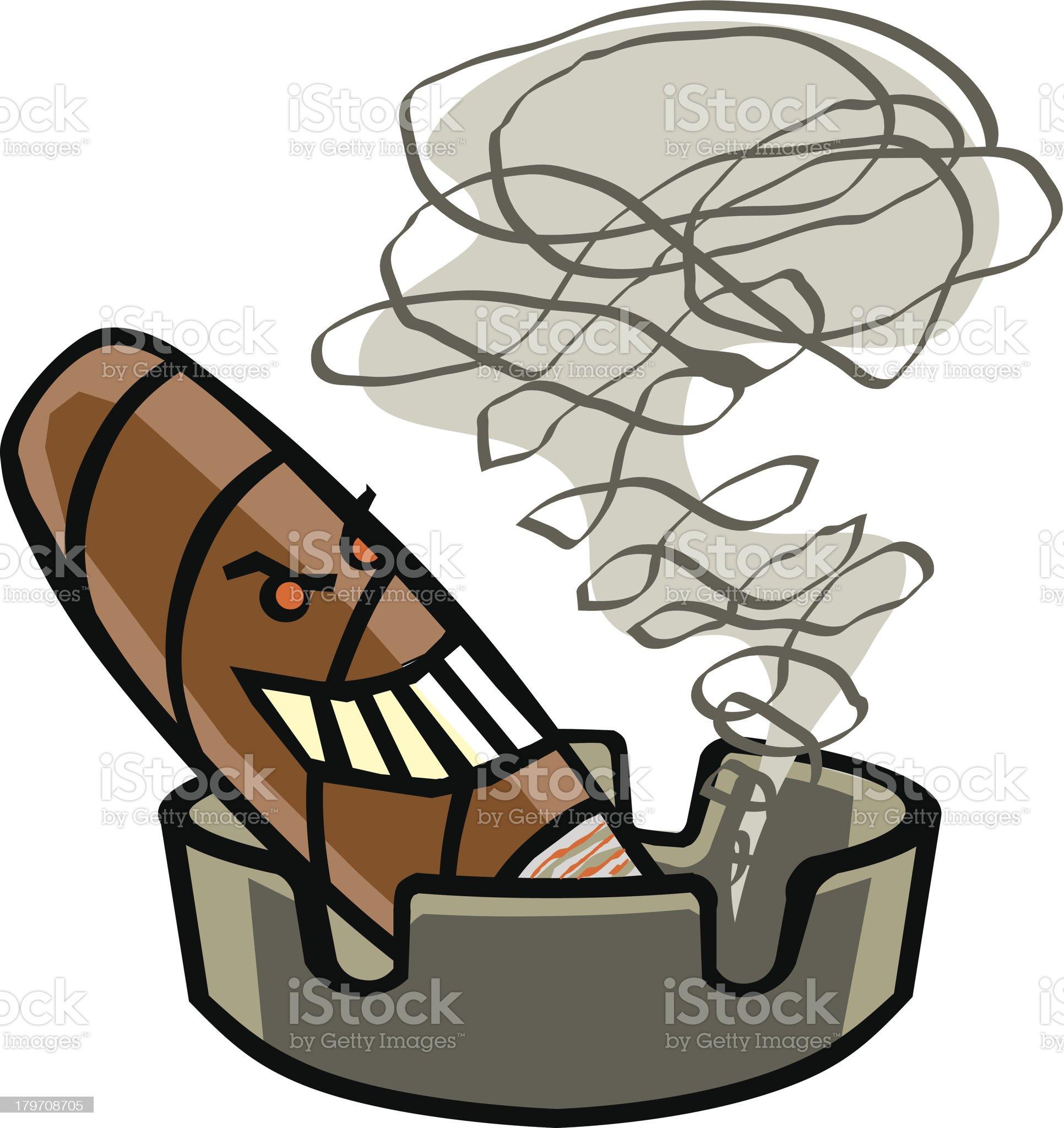 Cigar in Ashtray royalty-free stock vector art