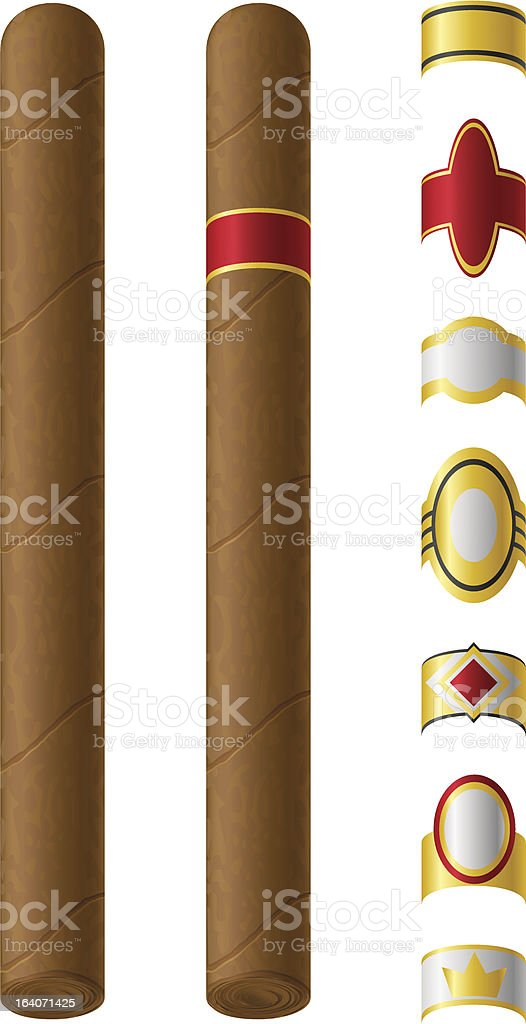 cigar labels for them vector illustration royalty-free stock vector art