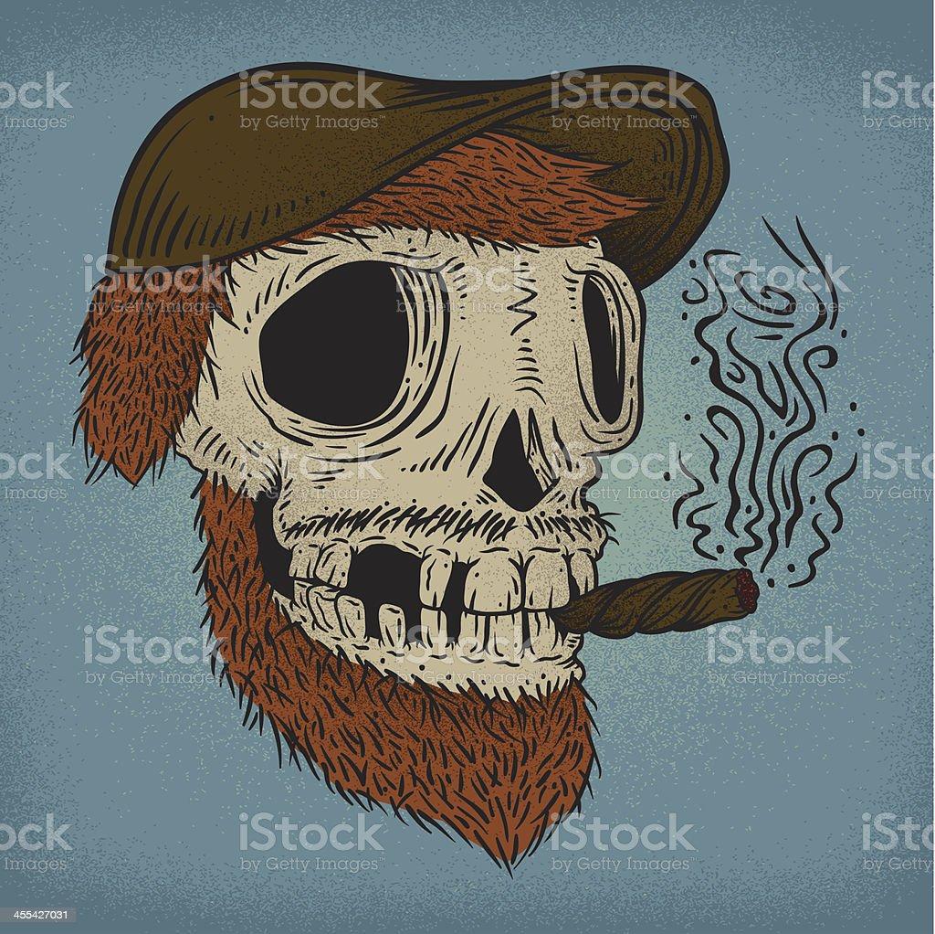 Cigar Skull royalty-free stock vector art