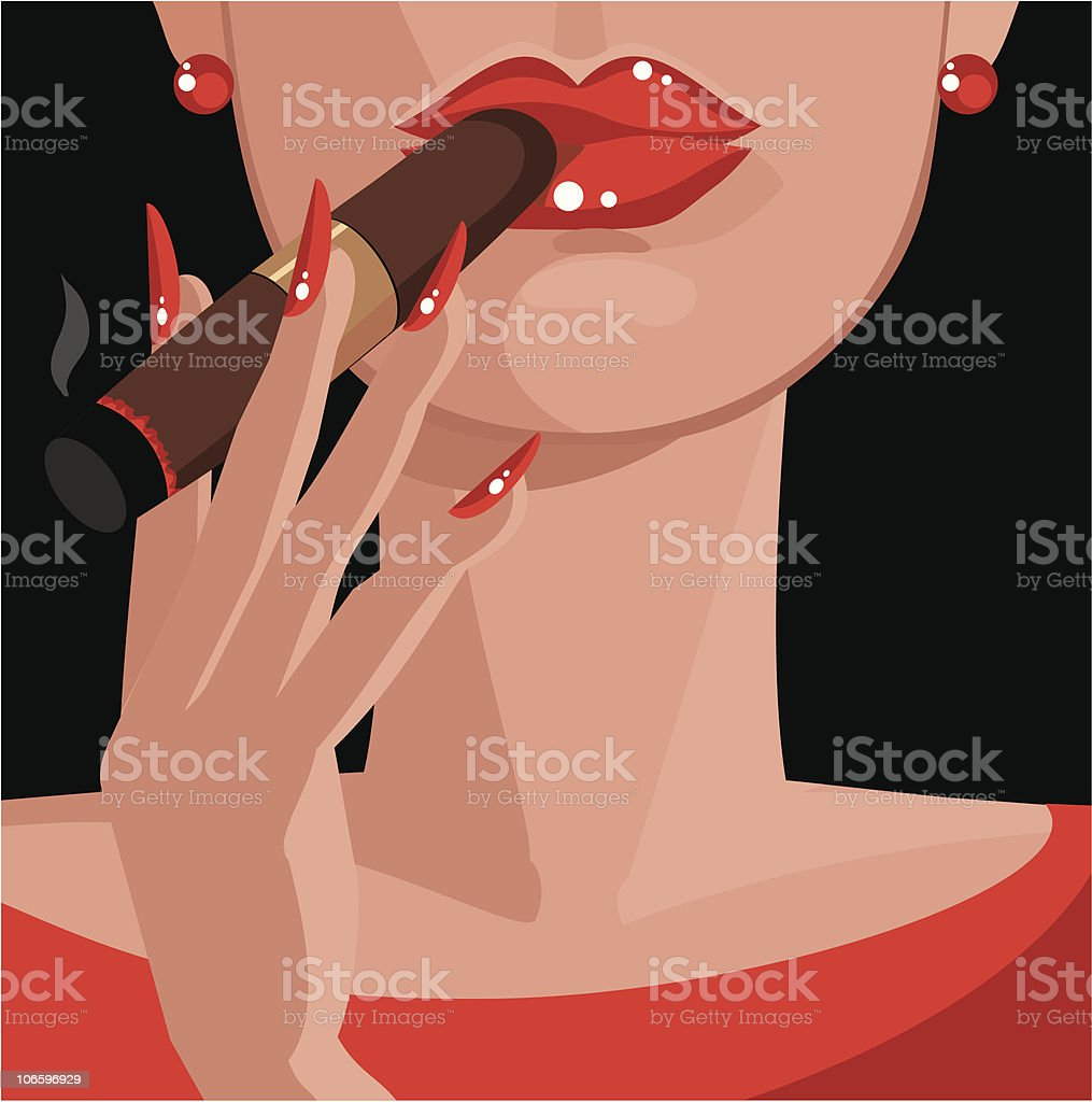 Cigar vector art illustration