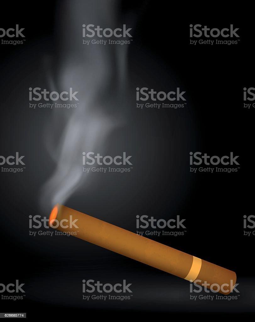 Cigar vector art illustration