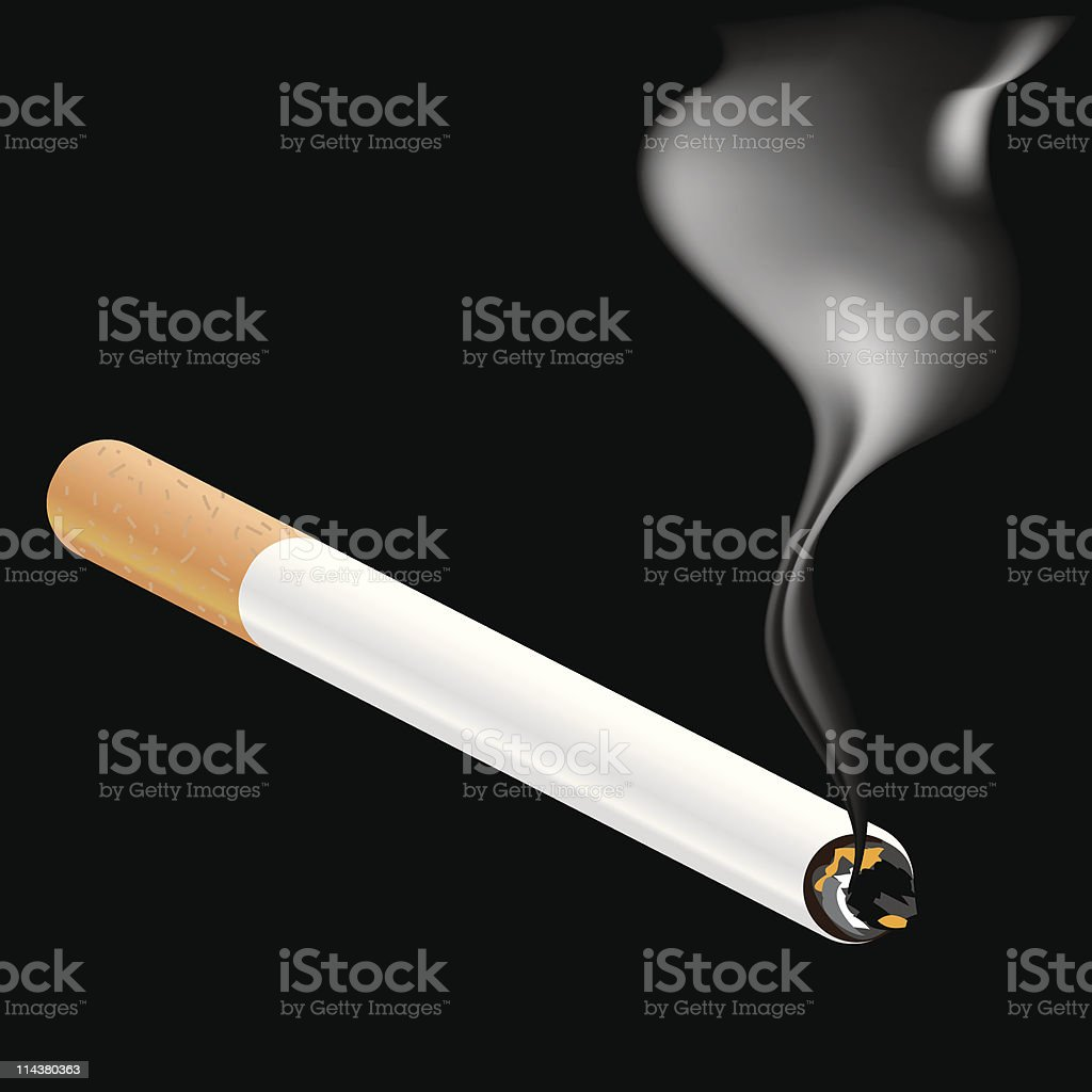 cigarette and smoke royalty-free stock vector art
