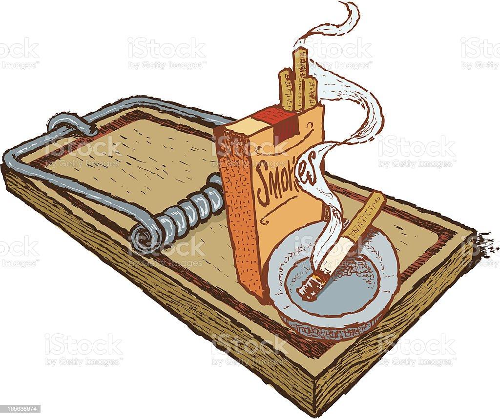 Cigarette Smoking - Addiction Trap, Bad Habit royalty-free stock vector art
