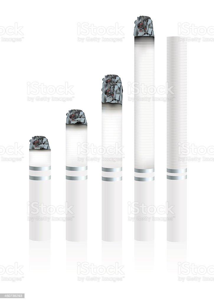 Cigarettes During vector art illustration