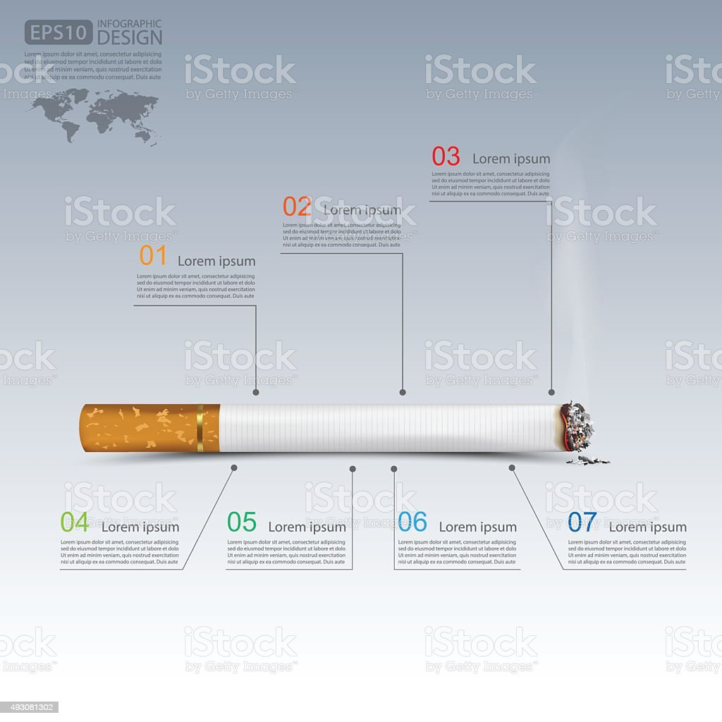 Cigarettes infographics,vector vector art illustration